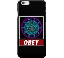 Gravity Falls- bill cipher wheel Obey iPhone Case/Skin