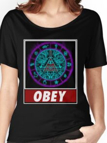 Gravity Falls- bill cipher wheel Obey Women's Relaxed Fit T-Shirt