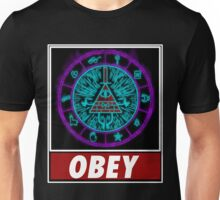 Gravity Falls- bill cipher wheel Obey Unisex T-Shirt