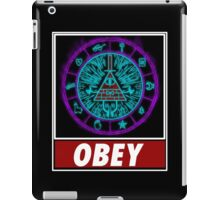 Gravity Falls- bill cipher wheel Obey iPad Case/Skin