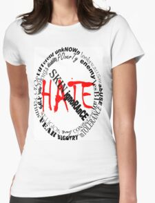 NO MORE HATE Womens Fitted T-Shirt