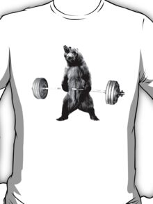 Grizzly Bear Deadlifting T-Shirt