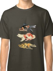 Botanical Fish Trio on Black Classic T-Shirt