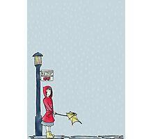 Rain, Rain, Go Away - Illustrated Design Photographic Print