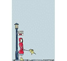 Rain, Rain, Go Away - Illustrated Design Photographic Print