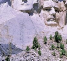 """MOUNT RUSHMORE"" Presidents Sculpture Print Sticker"