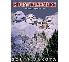 """MOUNT RUSHMORE"" Presidents Sculpture Print Photographic Print"