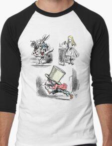 Alice in Wonderland Montage  Men's Baseball ¾ T-Shirt