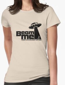 Beam me up V.2.2 (black) Womens Fitted T-Shirt