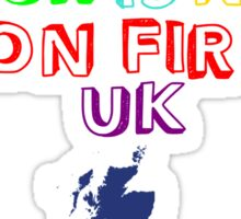The Amazing Tour Is Not On Fire 2016 UK <3 Sticker