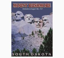 """MOUNT RUSHMORE"" Presidents Sculpture Print One Piece - Short Sleeve"