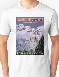 """MOUNT RUSHMORE"" Presidents Sculpture Print Unisex T-Shirt"