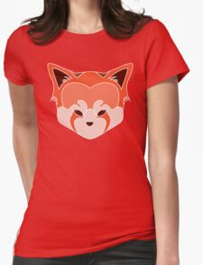 Cute Red Panda Head Logo Lined Womens Fitted T-Shirt