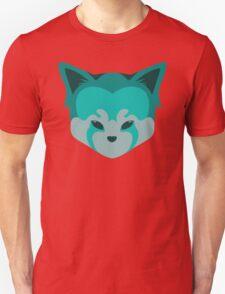 Cute Panda Head Logo T-Shirt Blue Unisex T-Shirt