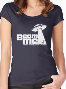 Beam me up V.2.2 (white) Women's Fitted Scoop T-Shirt