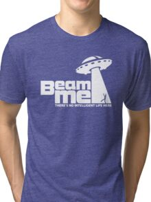 Beam me up V.2.2 (white) Tri-blend T-Shirt