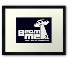 Beam me up V.2.2 (white) Framed Print
