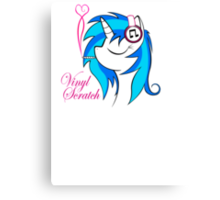 Vinyl Scratch (w/ smoke) Canvas Print