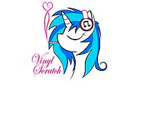 Vinyl Scratch (w/ smoke) Photographic Print