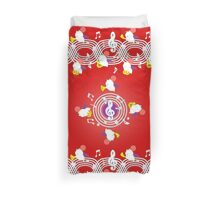 Music Moogle (Red&Purple) Duvet Cover