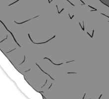 godzilla grey scale Sticker