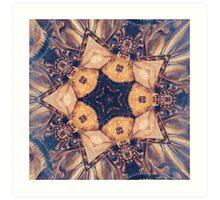 Vintage Gold Star Abstract Art Print