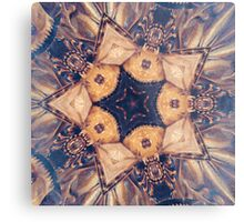 Vintage Gold Star Abstract Metal Print