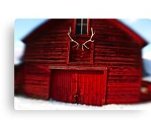 Lensbaby Barn and Antlers Canvas Print