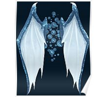 Blue dragon wings Poster