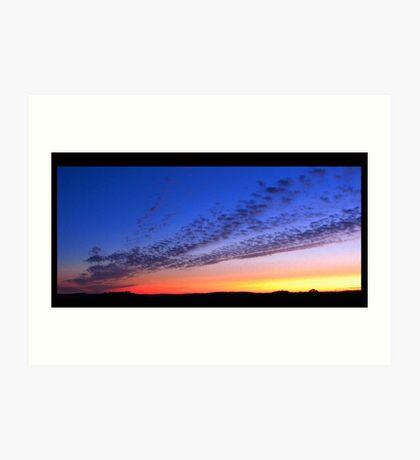 Sunset highway Art Print