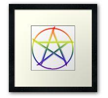 Pride Pentacle Framed Print