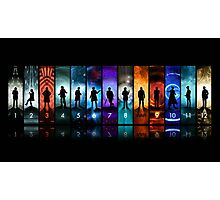 Doctor Who all the doctors  Photographic Print