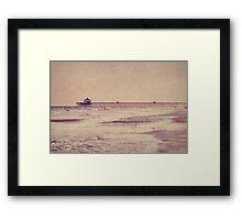 Folly Beach at Dusk: Charleston, SC Framed Print