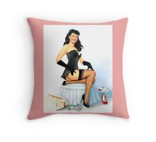 Pin-Up Girl 'Right Fit' by Fiona Stephenson Throw Pillow