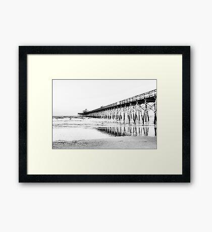 The Pier at Folly Beach Framed Print