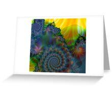 Fractal Hills...By Curt Vinson Greeting Card