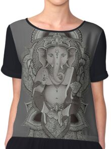 Ganesha (gray) Chiffon Top