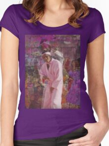 INSPIERD BY song Yamborghini High BY A$AP MOB Women's Fitted Scoop T-Shirt