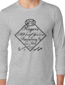 usa new york caligraphy by rogers bros Long Sleeve T-Shirt