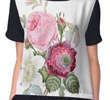 Rose Floral Botanical Chiffon Top