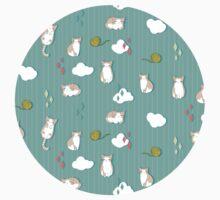 Chubby Kitty Pattern Kids Tee