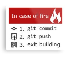 Git on Fire Metal Print