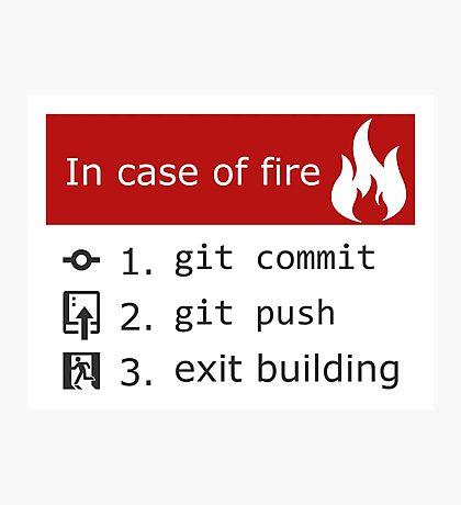 Git on Fire Photographic Print
