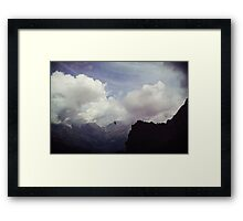 Clouds over Mountains Framed Print