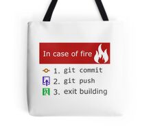 Git on Fire Tote Bag