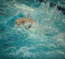 bubbling water of a swimming pool by mrivserg