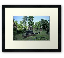 cemetery dramatic scenery Framed Print