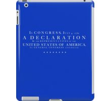 Declaration of Independence iPad Case/Skin