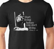 Portgas D Ace - Start living before you start dying. [Black Edition] Unisex T-Shirt