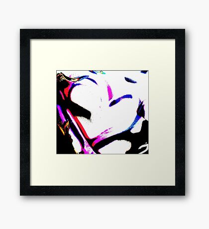 Abstract heart in pink & white Framed Print